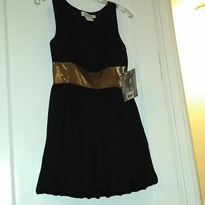 BB Dakota NWT SZ 4 Black dress Gold metallic